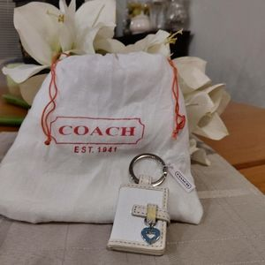 White Coach Fob Purse Charm